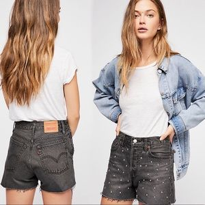 LEVI'S HIGHRISE WEDGIE CUTOFF SHORT X FREE PEOPLE